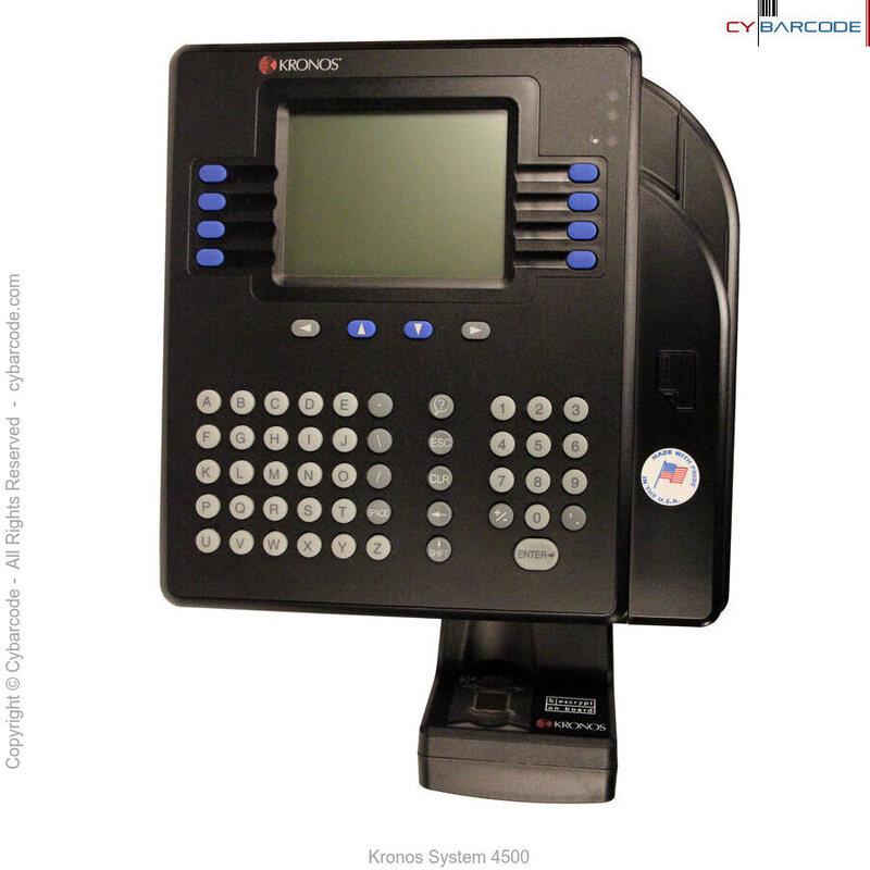 kronos system 4500 cybarcode inc rh cybarcode com kronos clock 4500 setup kronos 4500 time clock instructions